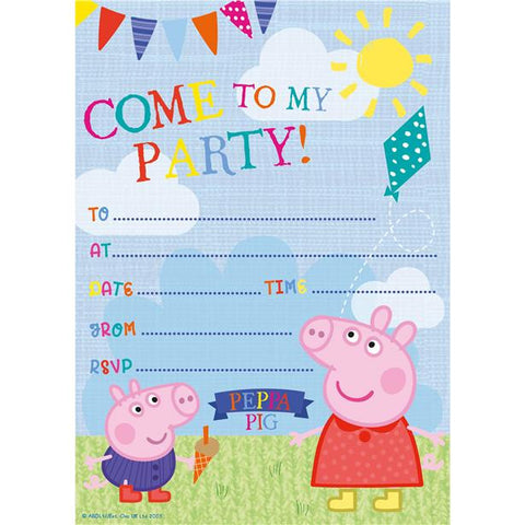 Peppa Pig Invitations 20ct