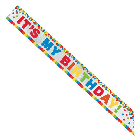 Primary Color Foil Birthday Sash