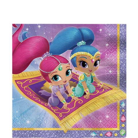 Shimmer & Shine Paper Party Serviettes 20ct