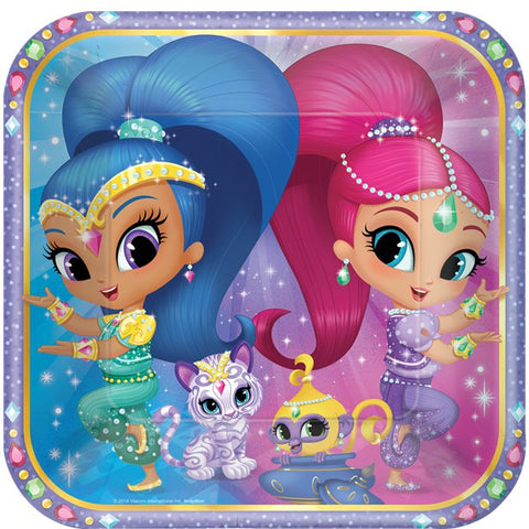 Shimmer & Shine Party Paper Plates 8ct