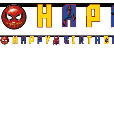 Spiderman Homecoming - Happy Birthday Letter Banner