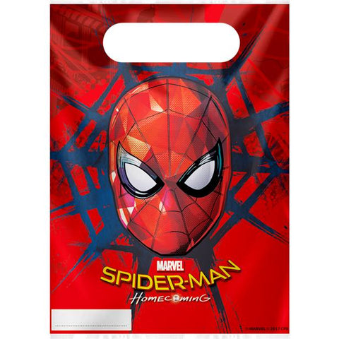 Spiderman Homecoming - Plastic Party Bags