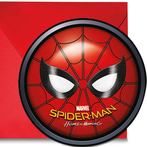 Spiderman Homecoming - Invitations & Envelopes 6ct