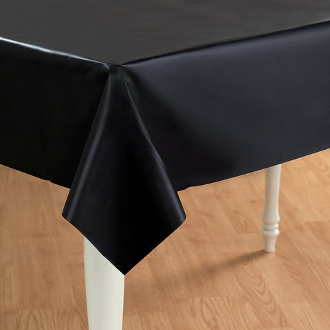 Black Plastic Tablecover - 54 inch x 108 inch