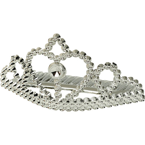 Silver Metallic Princess Tiaras 6ct
