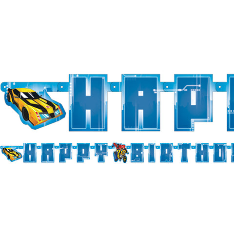 Transformers Birthday Letter Banner