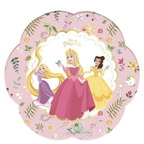 Disney True Princess Flower Shaped Party Paper Plates 8ct