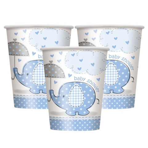 Umbrellaphants Blue Party Paper Cups 8ct