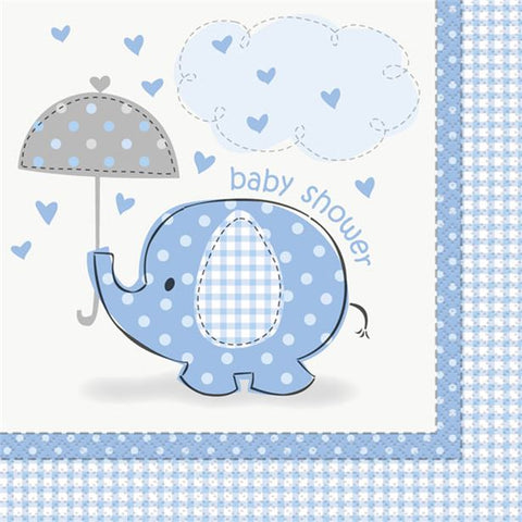 Umbrellaphants Blue Party Serviettes 16ct