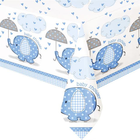 Umbrellaphants Blue Plastic Tablecloth