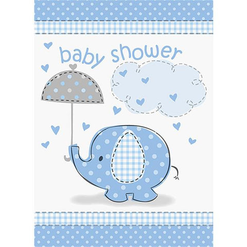 Umbrellaphants Blue Party Invitation Cards 8ct