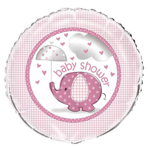 "Umbrellaphants Pink Baby Shower Balloon - 18"" Foil"