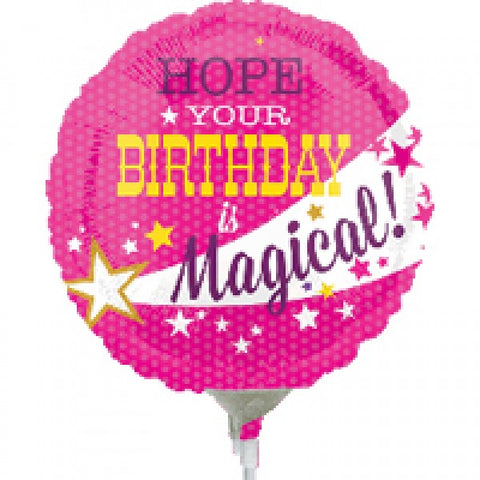 "Hope Your Birthday Is Magical 9"" Foil Balloon"
