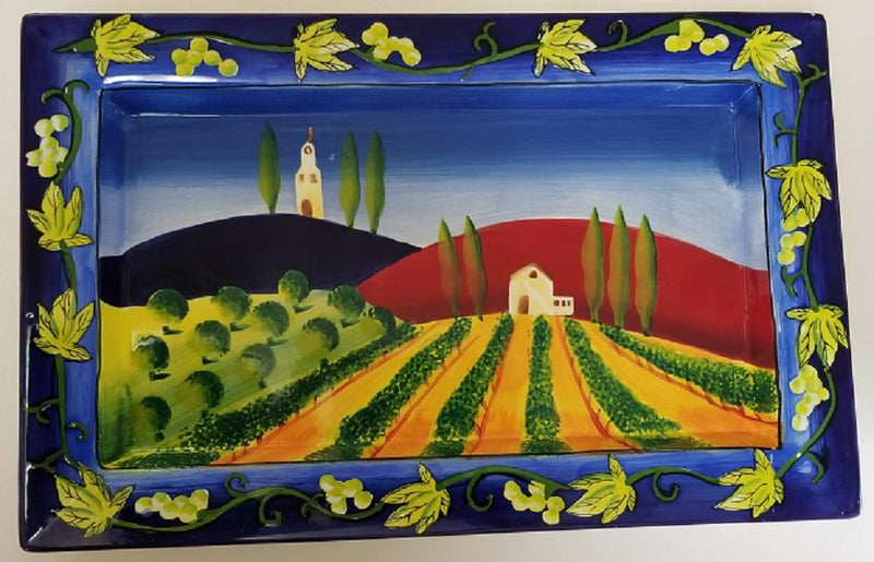Henriksen Imports Mary Naylor Wine Country Rectangular Tray