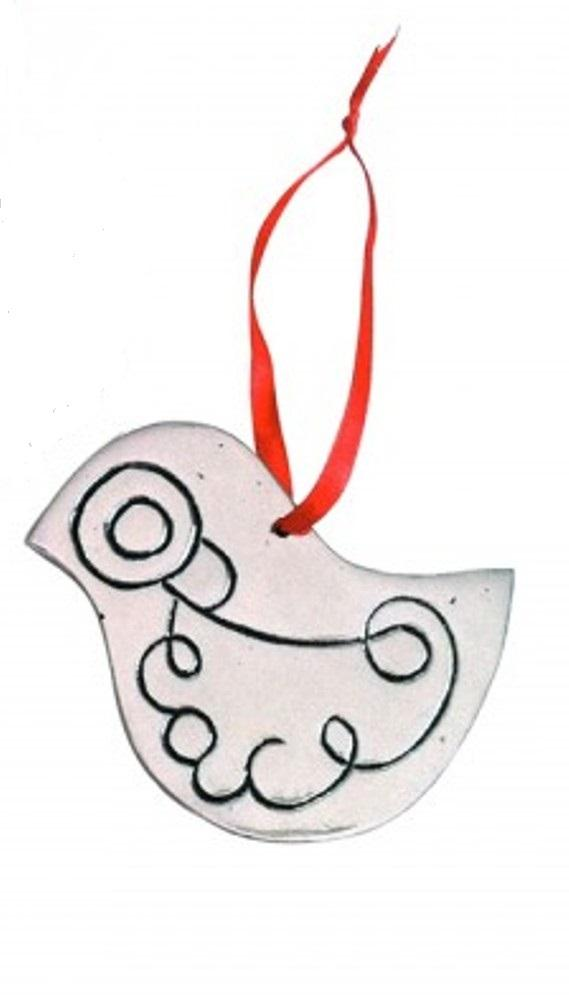Global Girlfriend Recycled Pewter Dove Ornament, Peace