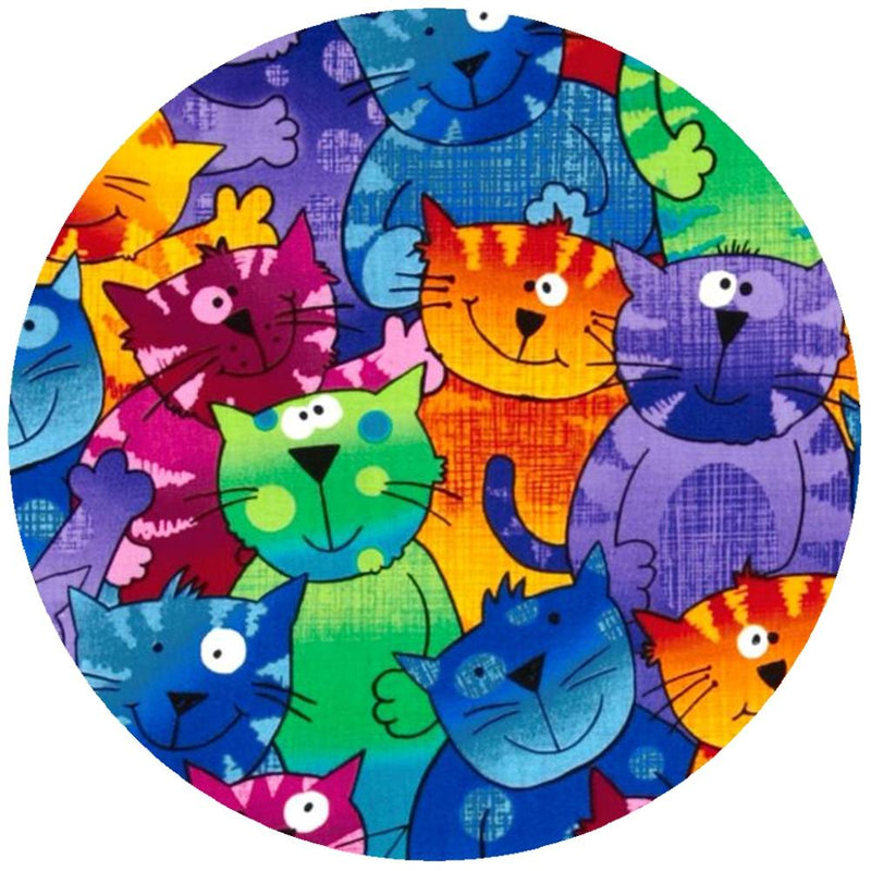 Andreas Silicone Round Trivet, Happy Cats, Made in the USA