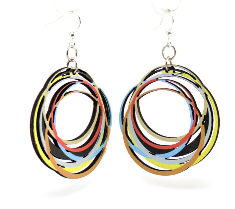 Circle Array Earrings by Green Tree Jewelry, Made in the USA