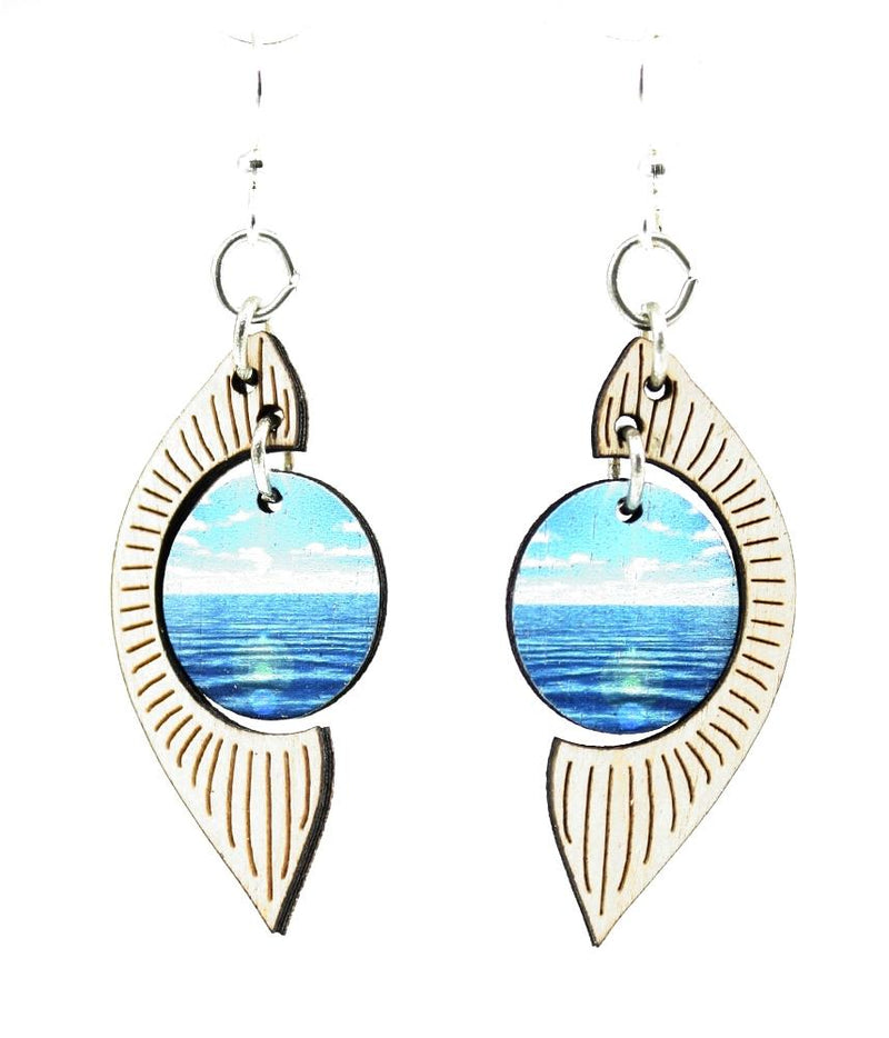 Ocean Pearl Earrings by Green Tree Jewelry, Made in the USA - Green Tree Jewelry