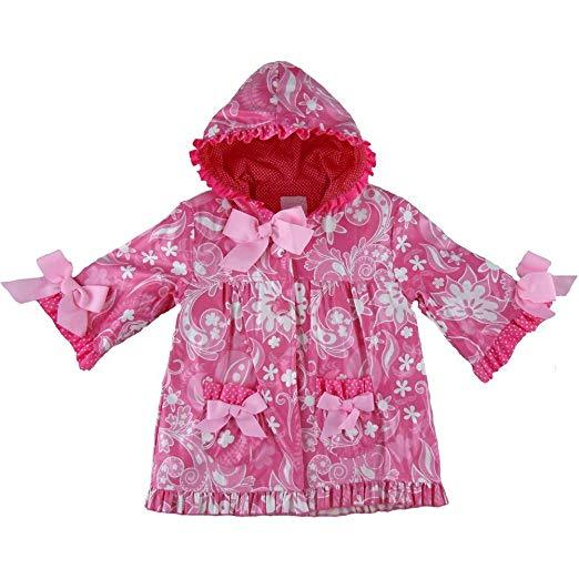 Mud Pie Baby Girls' Princess Rain Coat, 12-18 months