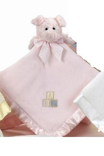 Piggy Hugs Pig Baby Blanket by Bearington