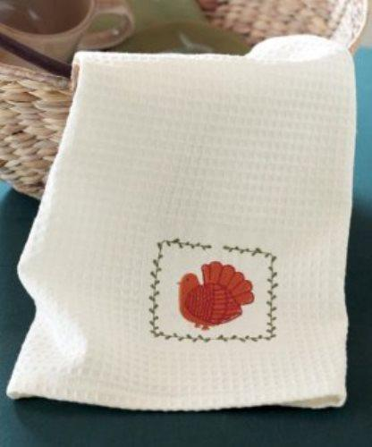 TAG Embroidered Turkey Dishtowel