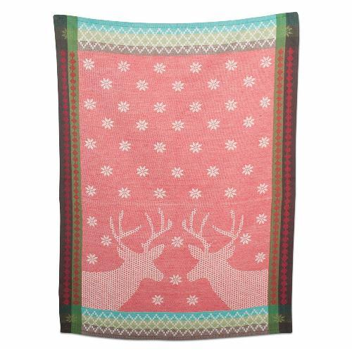TAG Deer Country Jacquard Weave Cotton Dishtowel