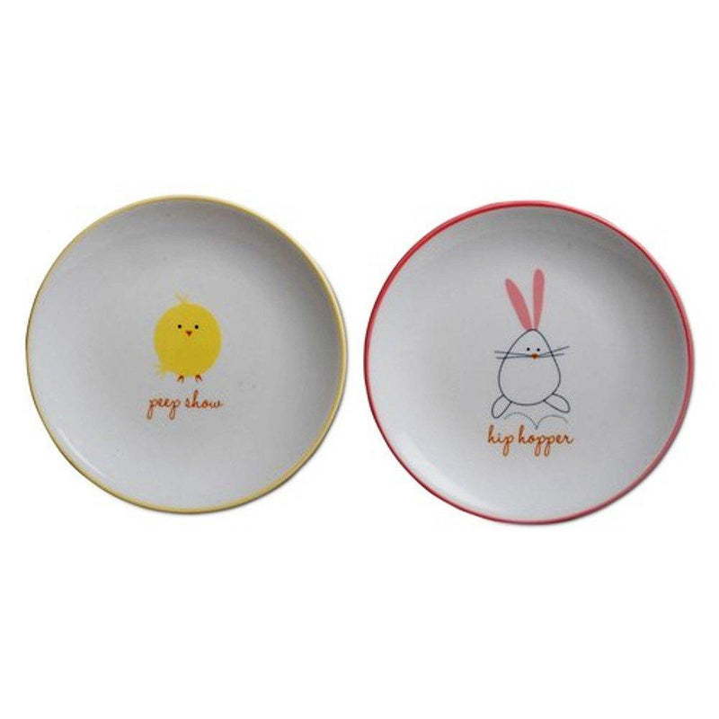 TAG Chick & Hip Hopper Appetizer Plates, Set of 4