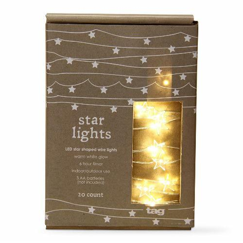 TAG Led Star Shaped Wire Lights, 20Ct - TAG
