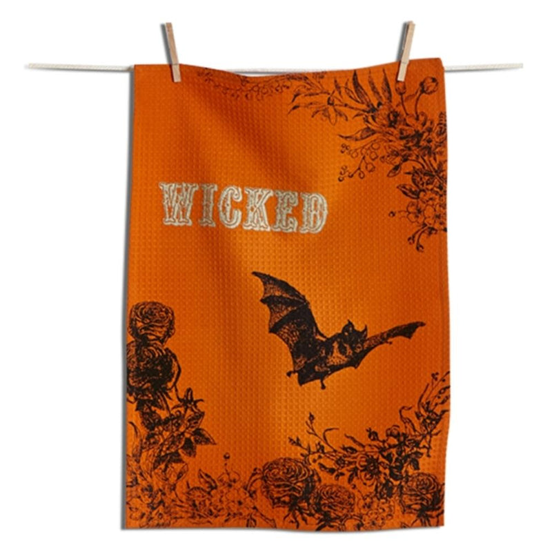 TAG Halloween Collection Wicked Bat Dishtowel