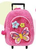 Fancy Butterfly Back Pack with Removable Rollers