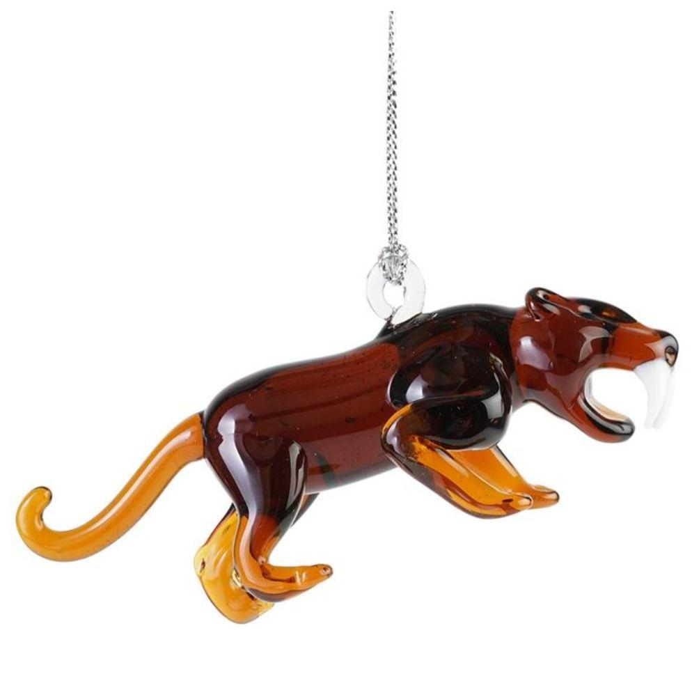 Dynasty Gallery Glassdelights Ornament or Figurine, Saber Tooth Cat