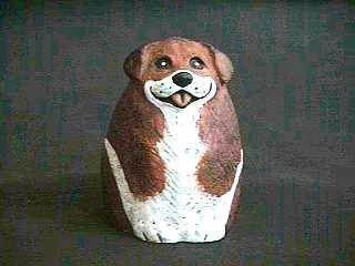 Beagle/Brittany Spaniel Collectible Resin Figure