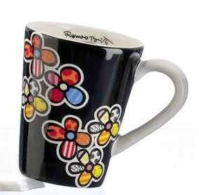 Romero Britto Flowers Mug