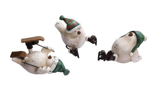 Creative Co-op Skating & Skiing Bird Figurines, Set of 3