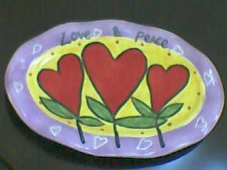 Love Theme Rectangular Tidbit Plate by Outi - Love Series