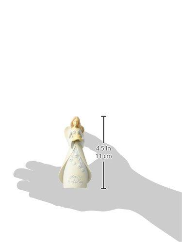 Enesco Foundations Birthday Mini Angel Figurine, 4-1/2-Inch