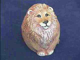 Leopold Lion Collectible Resin Figure - Farm Fresh Eggs