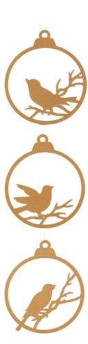 Creative Co-op Wood Ornament with Bird, Choice of Colors