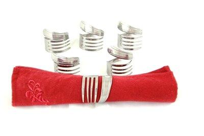 Forked Up Art Handmade Napkin Rings, Set of 6, Made in the USA