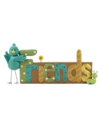 Blossom Bucket Friends with Bluebird Figurine
