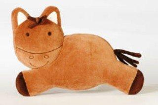 Chocolate Brown Valour Pony Baby Pillow