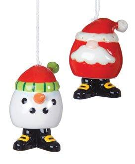 Giftcraft Santa & Snowman Ornament, Set of 2