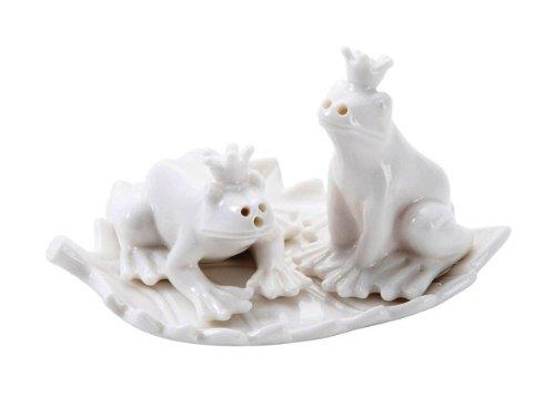 Creative Co Op Crown Frog Salt and Pepper Shakers