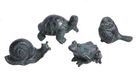 Creative Co-op Resin Animal Figurines, Set of 4