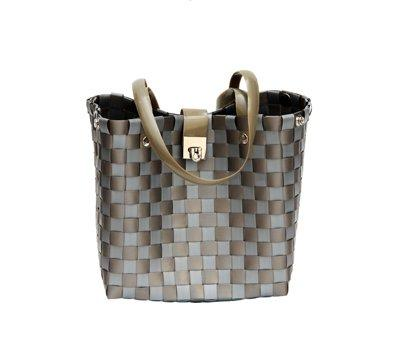 Fashionworx Zig Zag Bag By Grass Roots Creations, Perfect Little Bag, Pewter