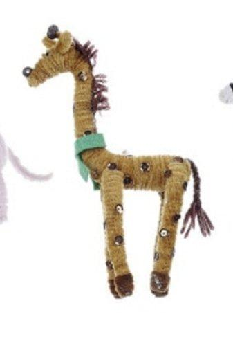 Creative Co-op Chenille Animal Figurine, Choice of Styles