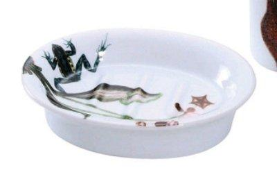 Stoneware Catesby Collage Frog Soap Dish