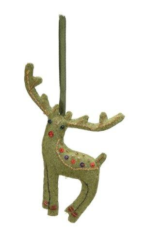 Creative Co-op Felt Deer Ornament