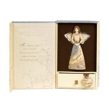Elements Daughter Angel Ornament Gift Set by Pavilion, 4-1/2-Inch, Includes Charm and Lovely Daughter Saying on Inside Gift Box