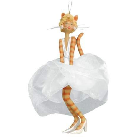 Catwalk Glamour Puss Hanging Figurine Ornament Cat